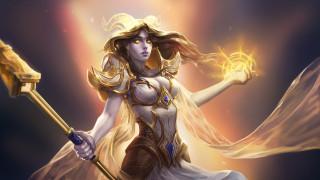 видео игры, world of warcraft, девушка, фон, магия