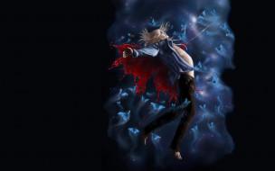 аниме, loveless, агатсума, соби, бабочки, кровь