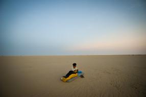 мужчины, - unsort, парень, матрас, песок