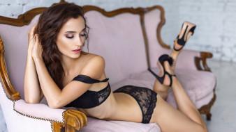 девушка в чёрном нижнем белье, девушки, - брюнетки,  шатенки, девушка, красивая, супер, секси, няша, нежная, классная, модница, лапочка, мадам