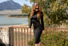 девушка в чёрном белье, девушки, - блондинки,  светловолосые, девушка, красивая, супер, секси, няша, нежная, классная, модница, лапочка, мадам