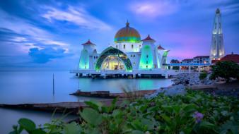 города, - мечети,  медресе, мечеть, селат, мелака, малайзия