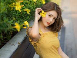 девушка в желтом белье, девушки, - азиатки, девушка, красивая, супер, секси, няша, нежная, классная, модница, лапочка, мадам