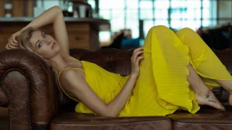 девушка в желтом белье, девушки, - блондинки,  светловолосые, девушка, красивая, супер, секси, няша, нежная, классная, модница, лапочка, мадам, lydia