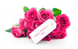 праздничные, день матери, розы, надпись