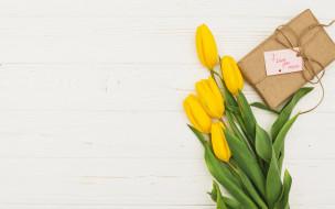 праздничные, день матери, тюльпаны, подарок, надпись, признание