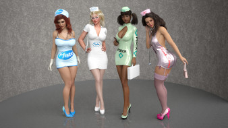 девушки, фон, взгляд, униформа