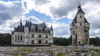 chateau de chenonceau, города, замки франции, chateau, de, chenonceau