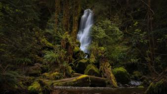 природа, водопады, поток, водопад, вода