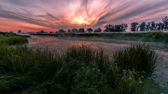 природа, реки, озера, провинция, бранденбург, германия