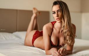 Девушка в красном белье обои для рабочего стола 2560x1600 девушка в красном белье, девушки, - блондинки,  светловолосые, девушка, красивая, супер, секси, няша, нежная, классная, модница, лапочка, мадам