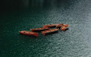 корабли, лодки,  шлюпки, вода, река