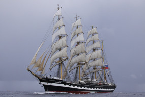 барк крузенштерн, корабли, парусники, барк, крузенштерн, парусник, корабль, море
