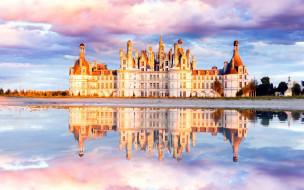 chateau de chambord, города, замки франции, chateau, de, chambord