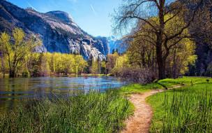 yosemite national park, usa, природа, реки, озера, yosemite, national, park