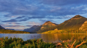 waterton lakes, national park of canada, природа, реки, озера, waterton, lakes, national, park, of, canada