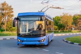 троллейбус, техника, троллейбусы, синий, дорога