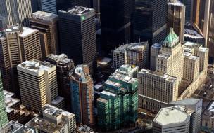 города, торонто , канада, панорама, небоскребы