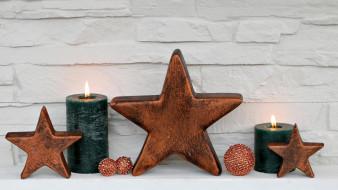 праздничные, новогодние свечи, свечи, огоньки