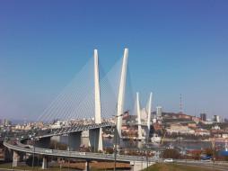 владивосток, города, - мосты, город, россия, мост, золотой, рог
