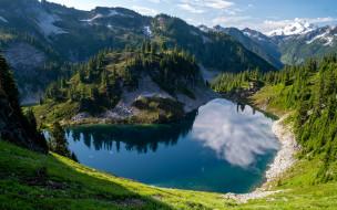 природа, реки, озера, горы, озеро, отражение