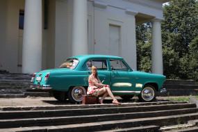 ГАЗ- 21 Волга обои для рабочего стола 1920x1280 газ- 21 волга, автомобили, -авто с девушками, газ-, 21, волга, автомобиль, классика, ретро, чемодан, девушка