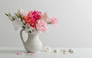 цветы, букеты,  композиции, гладиолус, розы