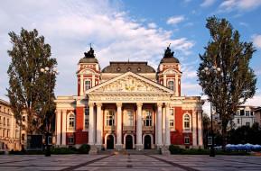 софия, города, софия , болгария, город, здание, театр