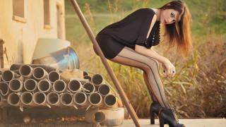 девушка в чёрном белье, девушки, - рыжеволосые и разноцветные, девушка, красивая, супер, секси, няша, нежная, классная, модница, лапочка, мадам