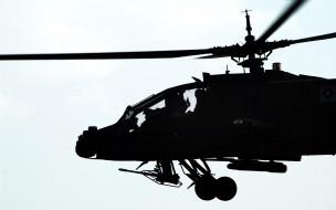 ah-64 apache, авиация, вертолёты, боевые, вертолеты, вертолет, вооруженные, силы, силуэт