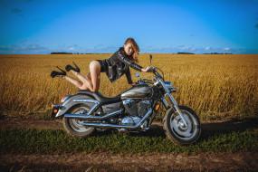 мотоциклы, мото с девушкой, красивая, девушка