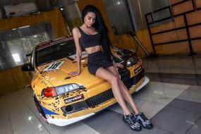 автомобили, -авто с девушками, honda, civic