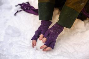 разное, руки,  ноги, анастасия, косплей, перчатки, лес, снег