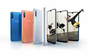 samsung galaxy a50, бренды, samsung, galaxy, a50, смартфон, современная, технология, белый, фон