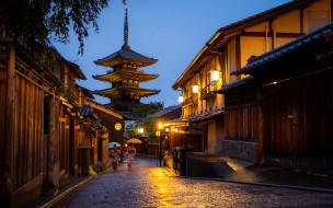 обои для рабочего стола 1920x1200 города, киото , япония, киото, японские, yasaka, pagoda, улица, азия
