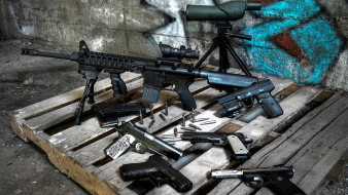 оружие, снайперская винтовка, пистолет, винтовка