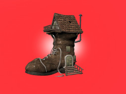 юмор и приколы, креатив, ботинок, домик