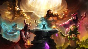 gods unchained, видео игры, ---другое, боги, кошка, постамент