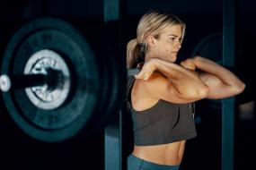 обои для рабочего стола 3000x2000 спорт, body building, блондинка, тяжелая, атлетика, штанга