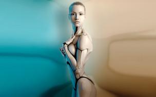 фэнтези, роботы,  киборги,  механизмы, девушка, робот, киборг
