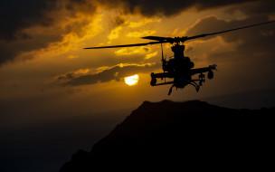 ah-1z viper, авиация, авиационный пейзаж, креатив, bell, ah-1z, viper, американский, ударный, вертолет, вечер, закат, военный, ввс, сша