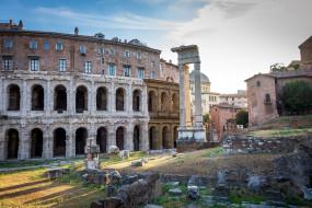 руины театра марцелла, города, рим,  ватикан , италия, руины, театра, марцелла
