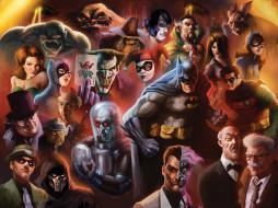 рисованное, комиксы, девушки, мужчины, фон, униформа, взгляд