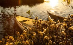 корабли, лодки,  шлюпки, река, блики