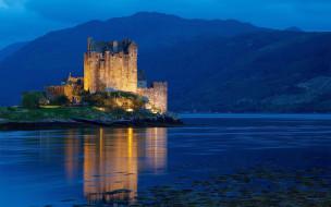 dornie castle, scotland, города, замки англии, dornie, castle