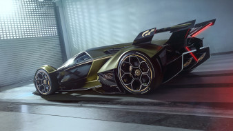 lamborghini v12 vision gran turismo 2020, автомобили, lamborghini, v12, vision, gran, turismo, 2020, крутой, футуристический, гиперкар, из, италии