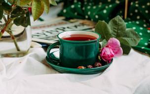 еда, напитки,  чай, роза, чай