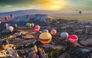 авиация, воздушные шары дирижабли, воздушные, шары, полет, простор, небо