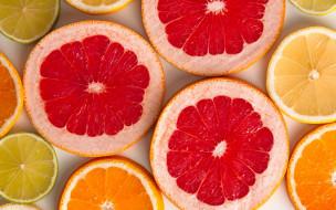 апельсин, грейпфрут, лимон
