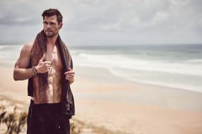 крис хемсворт, австралийский актер, мужчина, знаменитость, побережье